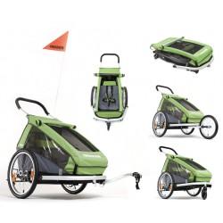Croozer Kid 1 carrello porta bimbo per bicicletta verde