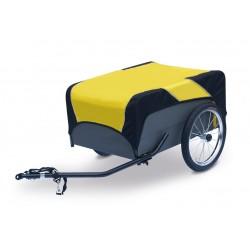 Roland Traveller rimorchio portaoggetti per bicicletta nero/giallo