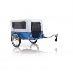 XLC Doggy Van BS-L02 rimorchio porta cane per bicicletta grigio/azzurro