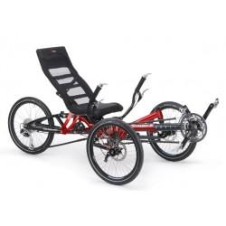 """HP Velotechnik Scorpion Plus 20""""/20"""" triciclo ammortizzato rosso magma"""