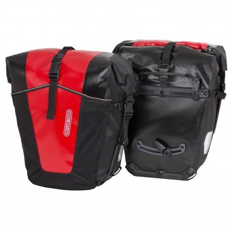 Ortlieb Coppia borse posteriori Back Roller Pro Classic nero rosso